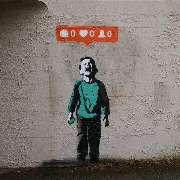 Instagram mural by Vancouver-based street artist IHeart