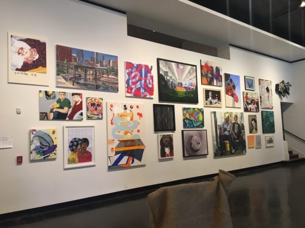 Installation image from the 2017 Big Show at Lawndale Art Center