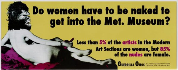 The Guerrilla Girls, Do women have to be naked to get into the Met. Museum