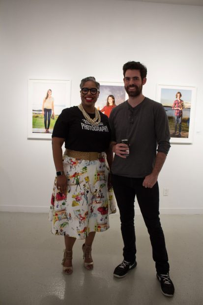 Theresa Marshall and Martin Ivy at-Houston-Center-for-Photography's-36th-Annual-Juried-Membership-Exhibition