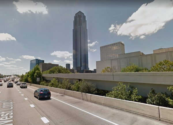 Williams Tower view from freeway in Houston