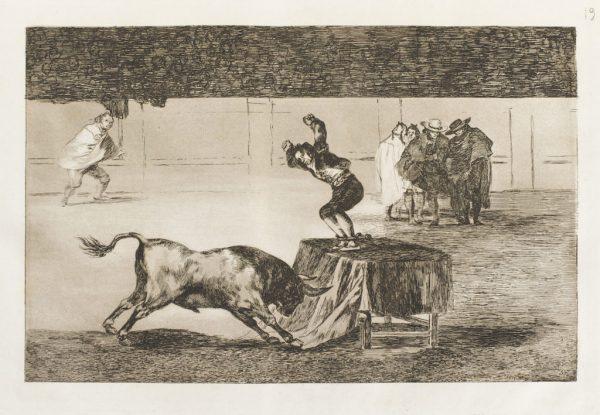 etching by Spanish printmaker Francisco Goya from his bullfighting series