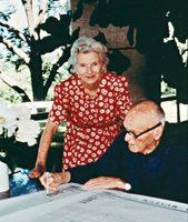 Ruth Carter Stevenson with Philip Johnson