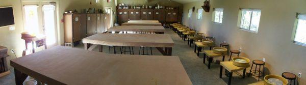 Ceramics studio at The Contemporary Austin'sArt School at Laguna Gloria