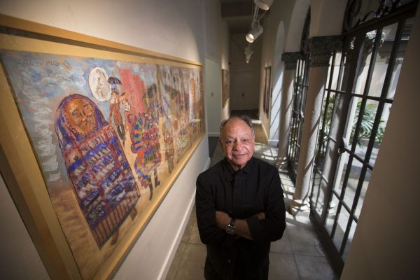 Cheech Marin with his art collection