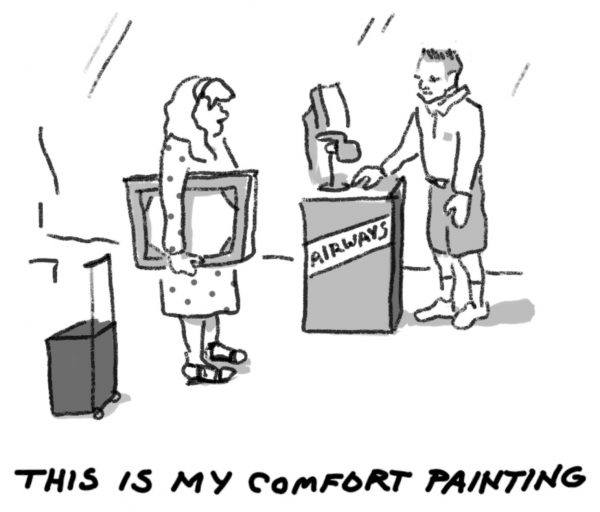 Comfort Painting comic by artist John Forse