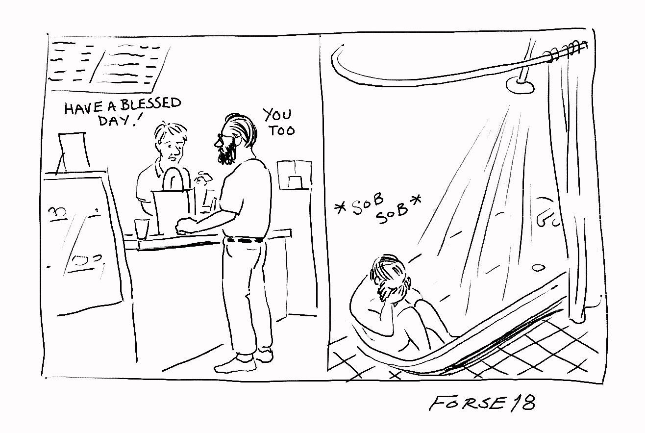 John Forse Shower Sob Comic