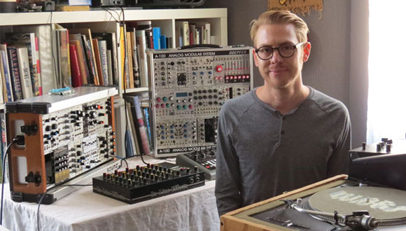 Justin Boyd in his studio