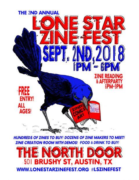 Lone Star Zine Fest 2018 Poster