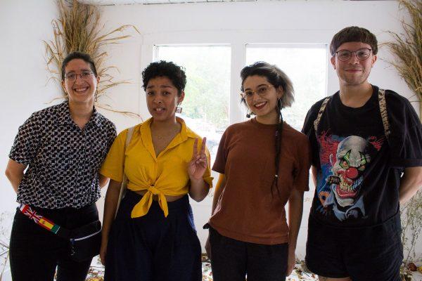 S Rodriguez, Sydney Mori, Madeline Sanchez, and Ernesto Alejandro at Project Row Houses