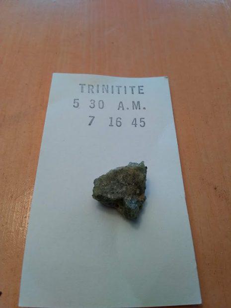 Trinitite mineral sample