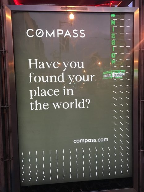 compass ad in SF