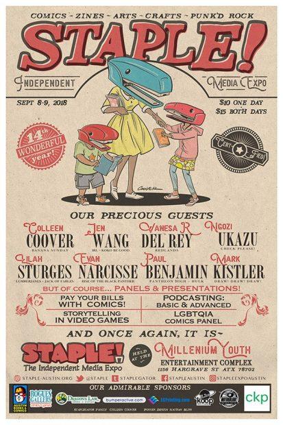 2018 Staple! Zine Comic Fair Poster