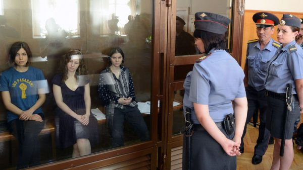 Pussy Riot on trial in Moscow, 2012