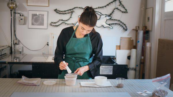 Adriana Corral in her studio in San Antonio.