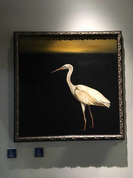 Bird art at Nordstrom in the Houston Galleria