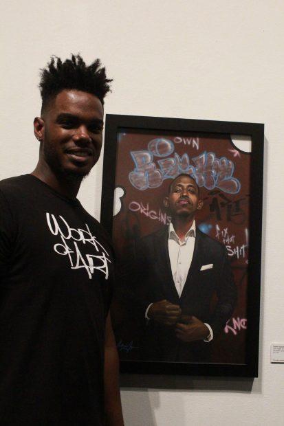 Cedric-Ingram-At-Lawndale-Art-Center's-2018-Big-Show-in-Houston