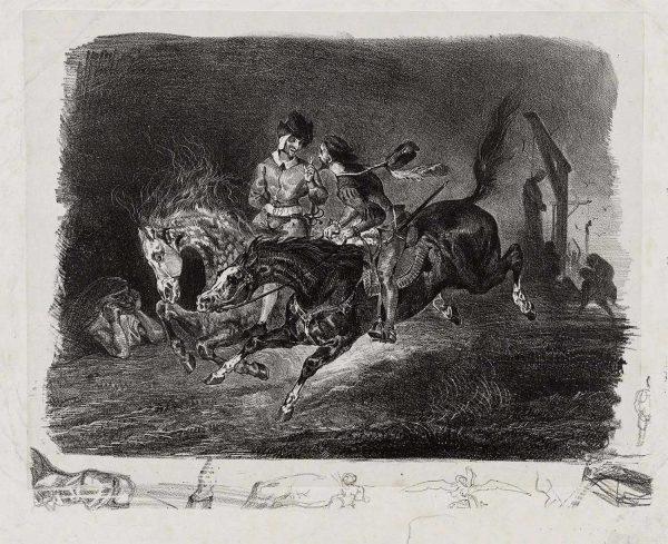 Delacroix Faust Lithograph Proof