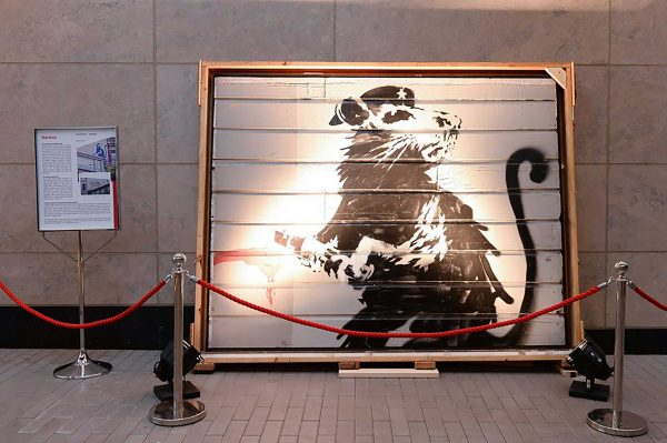 Haight Street Rat by Banksy installed in Toronto