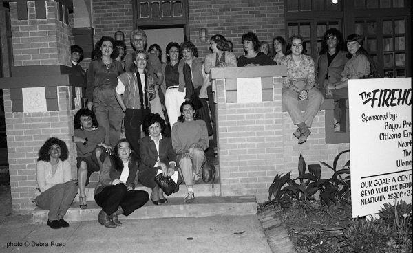 Members of the Houston chapter of the Women's Caucus for Art at the Firehouse, 1413 Westheimer, in 1983.
