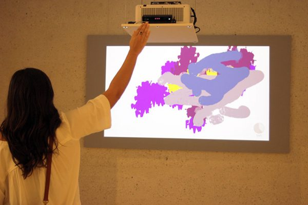 Interactive painting installation at Art Museum of South Texas