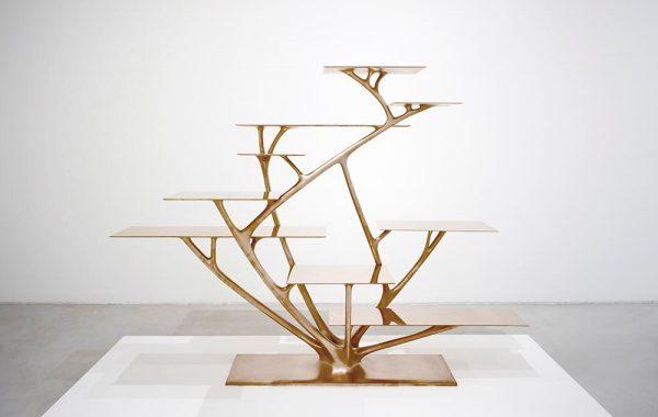 Joris Laarman, produced by Joris Laarman Lab, Branch Bookshelf, 2010, bronze, the Groninger Museum, the Netherlands.
