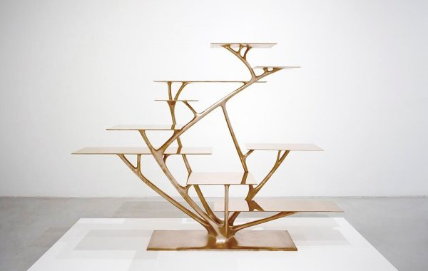 Joris Laarman, produced by Joris Laarman Lab, Branch Bookshelf, 2010, bronze, the Groninger Museum, the Netherlands.