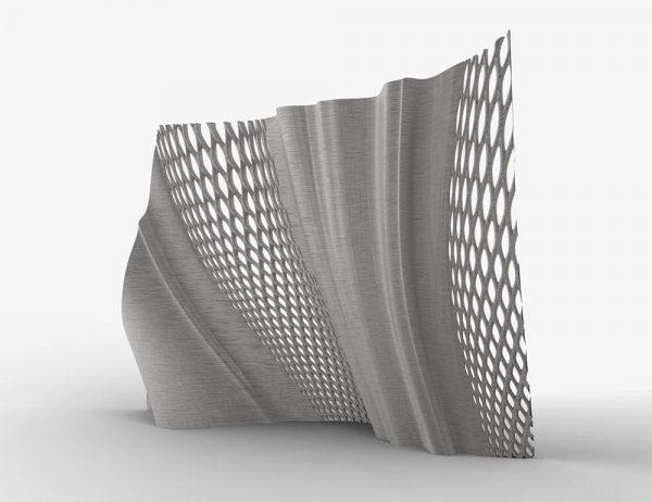 Joris Laarman, produced by Joris Laarman Lab, Gradient Screen, 2017, stainless steel, courtesy of Joris Laarman Lab.