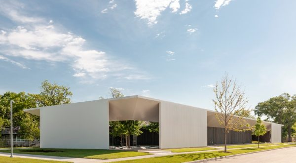 Menil Drawing Institute Exterior in Houston, Texas