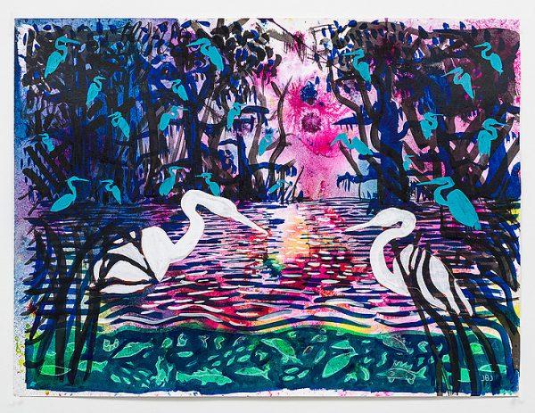 Painting by Texas artist Jules Buck Jones