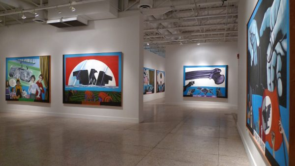 Paintings Humanscapes by Texas artist Mel Casas at Guadalupe Cultural Arts Center in San Antonio