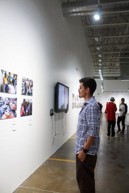 Pedro Navaro at FotoFest Hurricane Harvey Show
