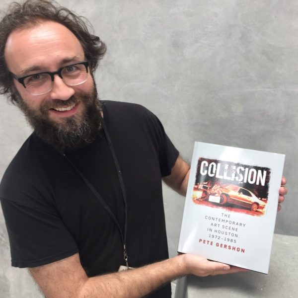 Pete Gershon with his new book Collision about Houston Art