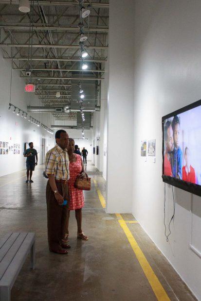 Sam _ Carol Dodson at FotoFest Hurricane Harvey Show