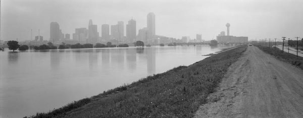Luther Smith, Trinity River greenway from the levee, Dallas, Texas, May 13, 1990