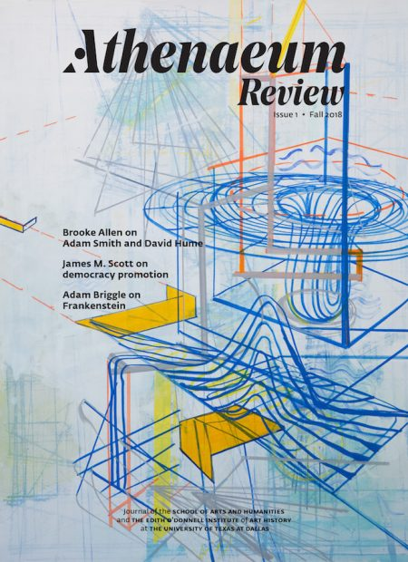 The front cover of Athenaeum Review 1 (2018) features an artwork by Lorraine Tady