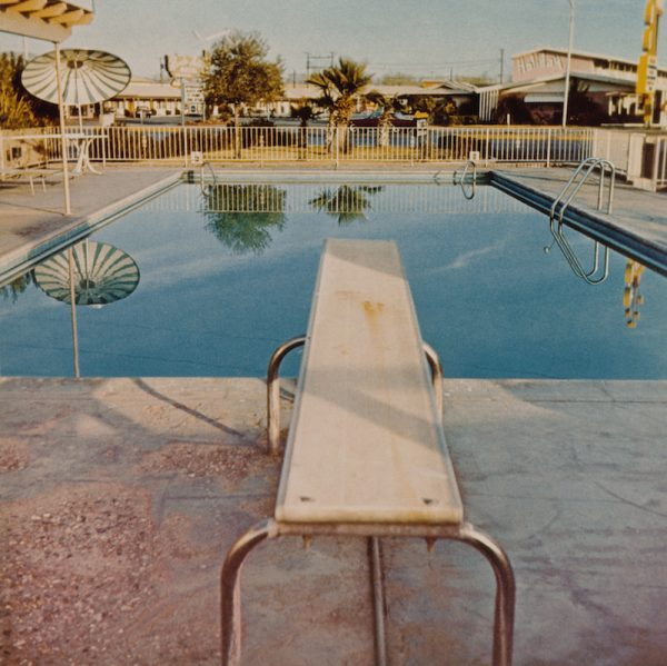 Ed Ruscha, Pool #2, from the portfolio Pools, 1968; printed 1997. Chromogenic color print, 40.4 x 40.7 cm (image). Courtesy Harry Ransom Center