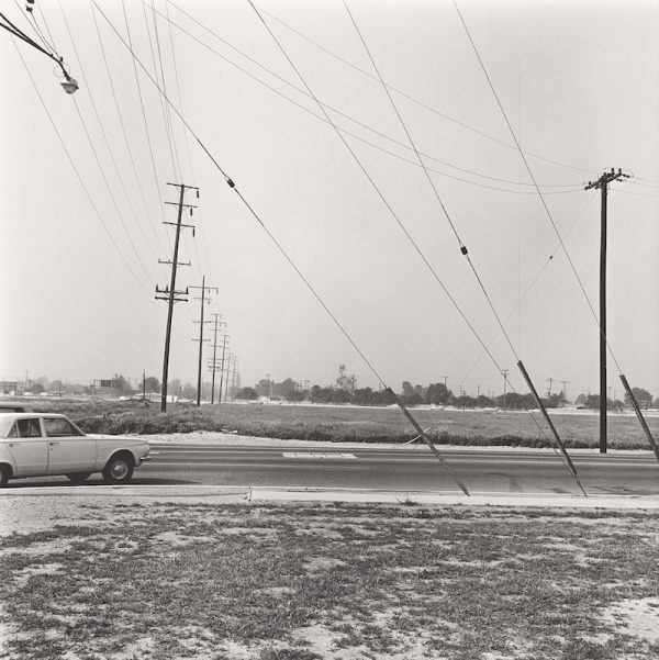 Ed Ruscha, Vacant Lot #1 (Anaheim), from the portfolio Vacant Lots, 1970; printed 2003. Gelatin silver print, 55.6 x 55.6 cm (image). Courtesy Harry Ransom Center