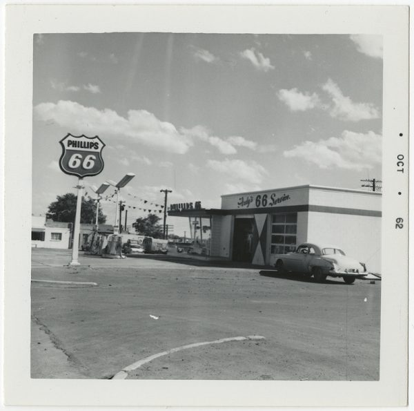 Ed Ruscha, Phillips 66, Grants, New Mexico, unpublished outtake from Twentysix Gasoline Stations, 1962.