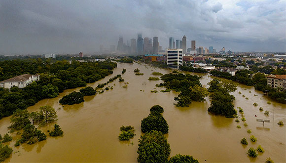 Buffalo Bayou Park Hurricane Harvey Houston