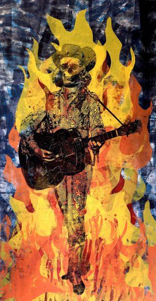 Carlos Hernandez Houston skull gig poster