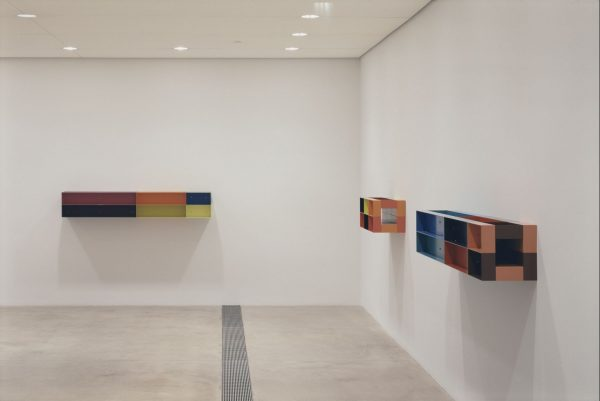 Donald Judd Multicolor metal sculptures