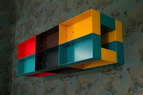Donald Judd Multicolor wall sculpture