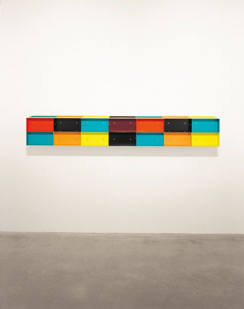 Donald Judd Untitled multicolor sculpture