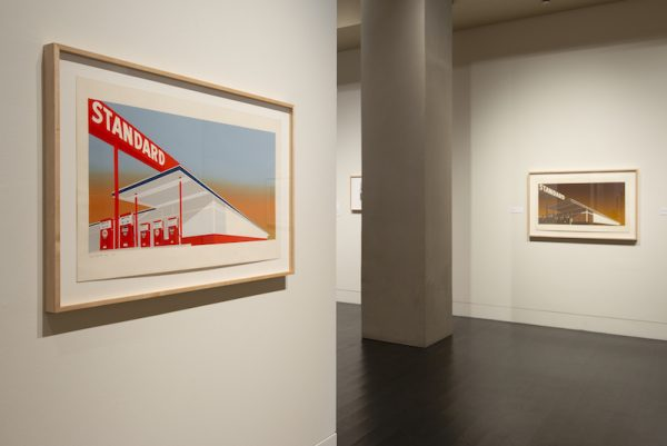 """The exhibition """"Ed Ruscha: Archaeology and Romance"""" at the Harry Ransom Center."""