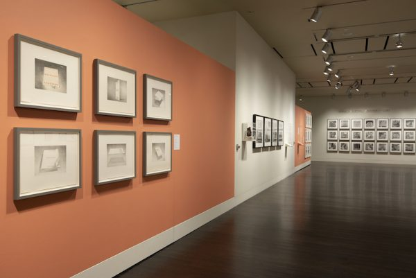 """The exhibition """"Ed Ruscha: Archaeology and Romance"""" at the Harry Ransom Center. Photos by Derek Rankins. Courtesy Harry Ransom Center."""
