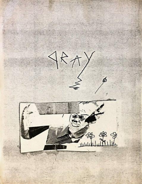 Gray flyer ca. 1980 by Jean-Michel Basquiat