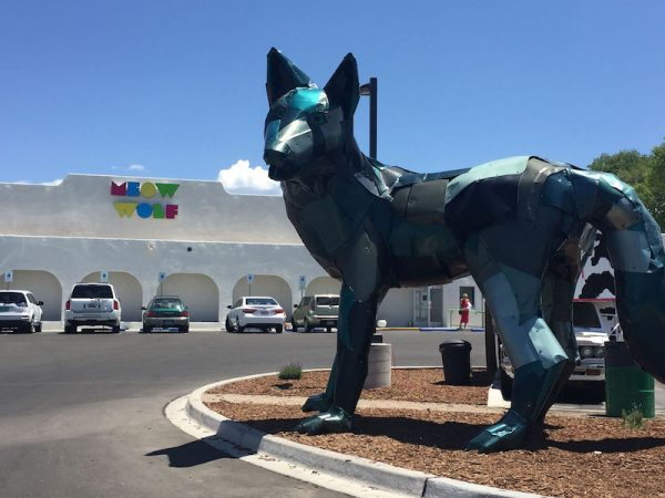 Outside at Meow Wolf's The House of Eternal Return