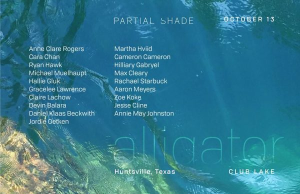 Partial Shade alligator group art exhibition in Huntsville Texas