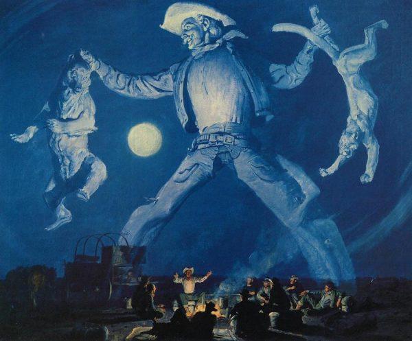 The Legend of Pecos Bill, Harold von Schmidt, 1948.
